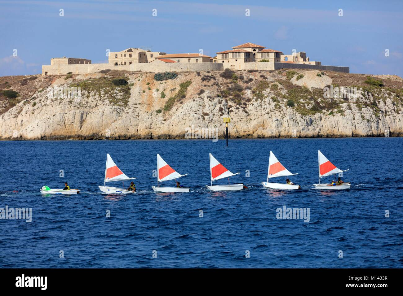 France, Bouches du Rhone, Calanques National Park, Marseille, Frioul Islands archipelago, Ratonneau Island, Caroline - Stock Image