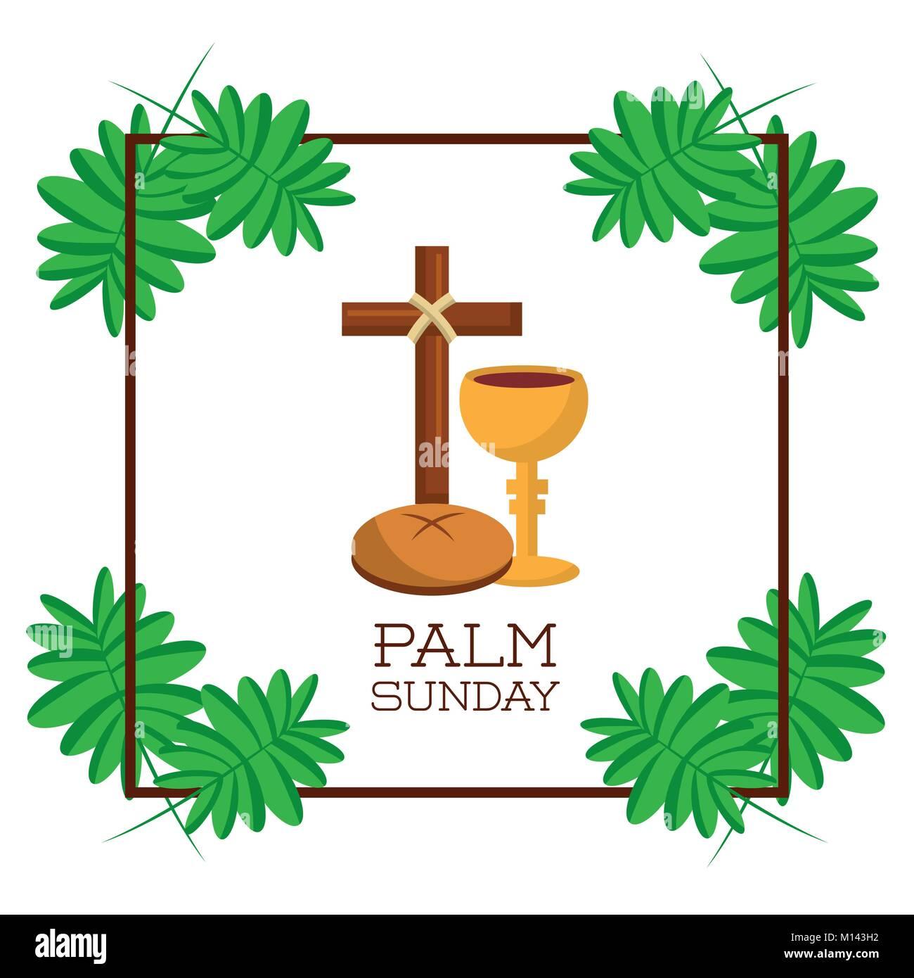 Palm sunday card invitation celebration religious stock vector art palm sunday card invitation celebration religious stopboris Images