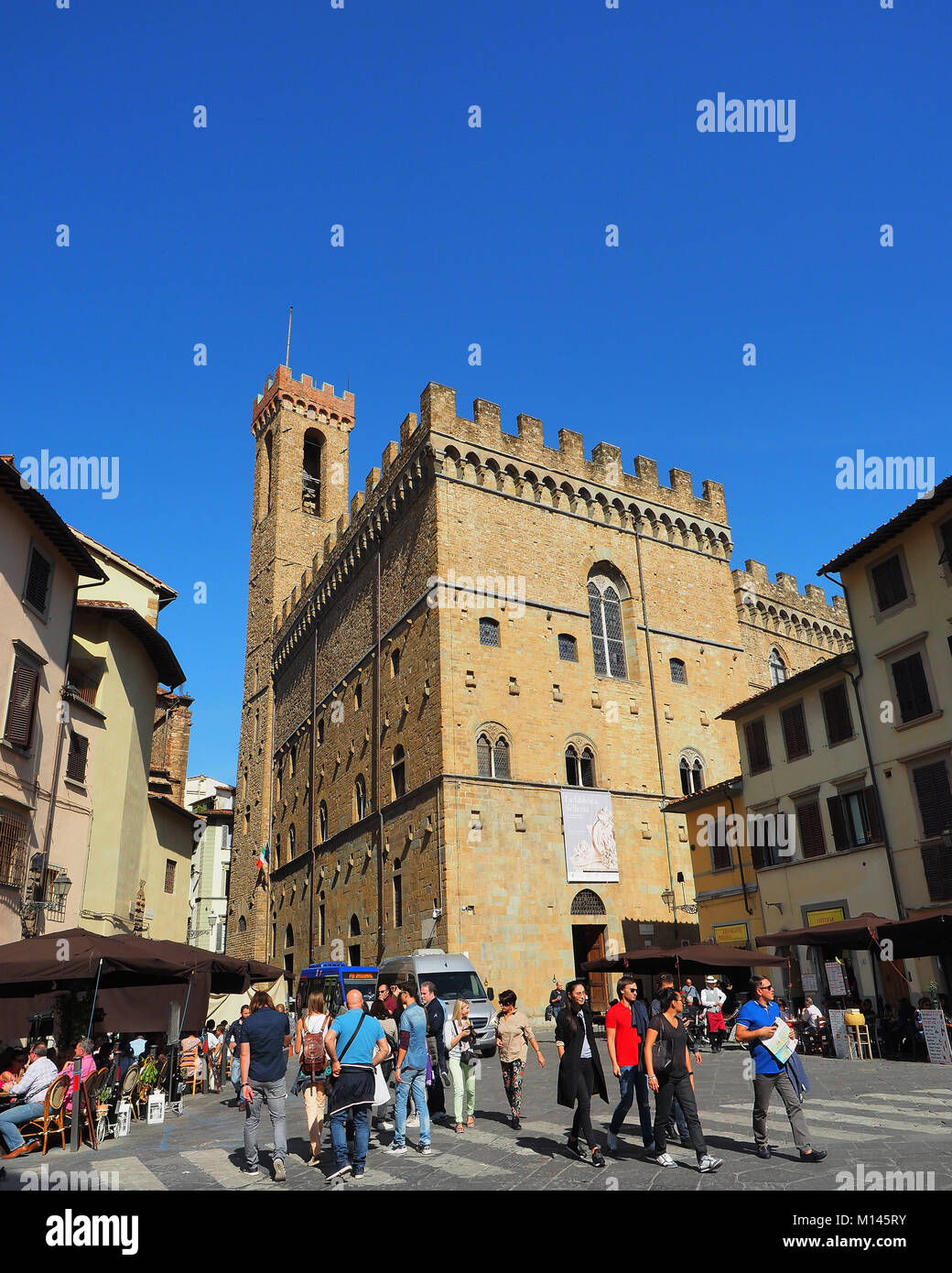 Europe,Italy,Tuscany,Florence,tourist visit the old town - Stock Image