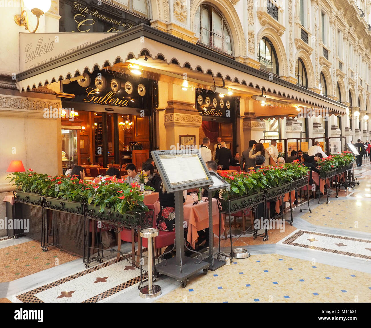 Italy,Lombardy,Milan,Restaurant /cafè ' La Galleria ' in the Vittorio Emanuele Gallery - Stock Image