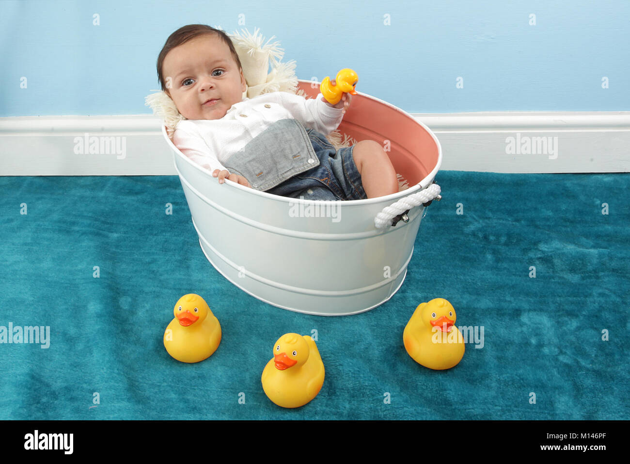 Month Old Mixed Race Baby Stock Photos & Month Old Mixed Race Baby ...