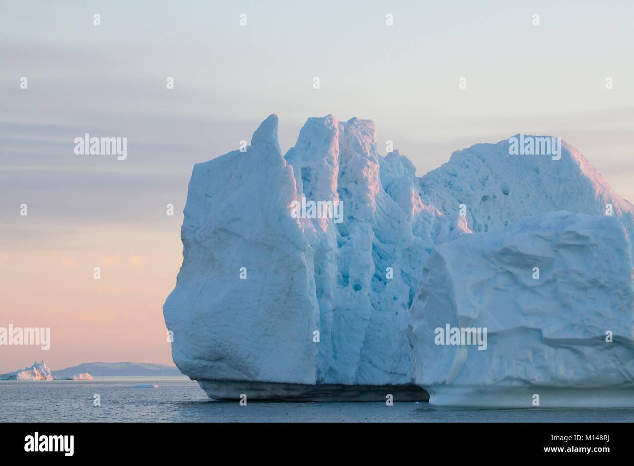Icebergs from the icefjord, Ilulissat, Disko Bay, Greenland, Polar Regions - Stock Image