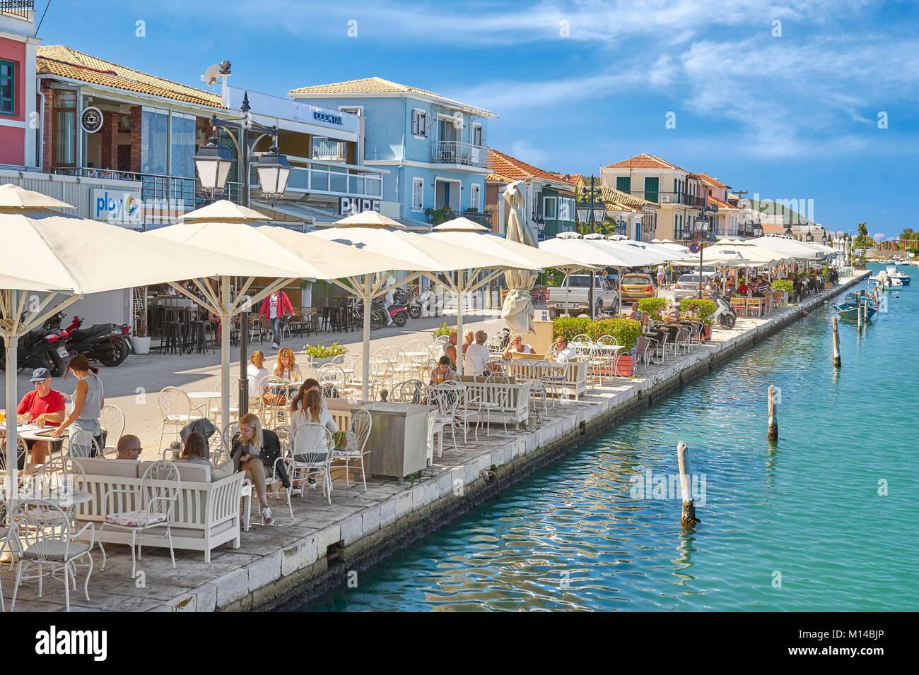 Lefkada town, Lefkada Island, Greece - Stock Image
