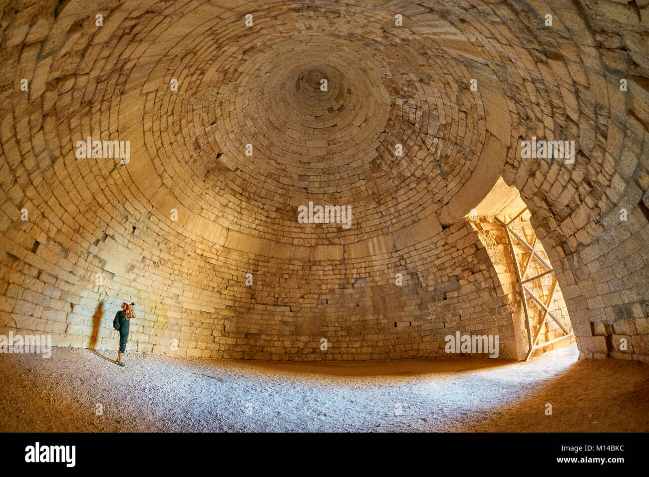 The Tomb of Agamemnon, the Treasury of Atreus, Mycenae, Greece - Stock Image