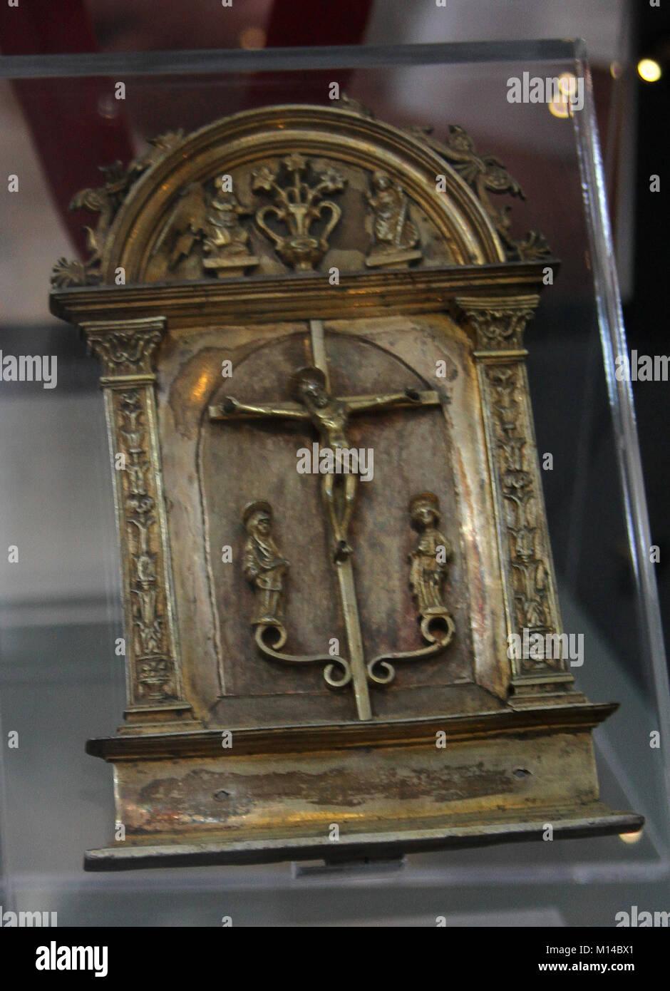 Peace, silver gilt, origin Napoli, Amalfi cathedral, Amalfi, Italy. - Stock Image