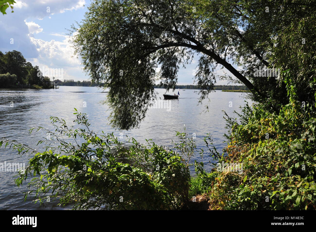 Wonderful view on Havel river and Berlin close to bridge of spies - Stock Image