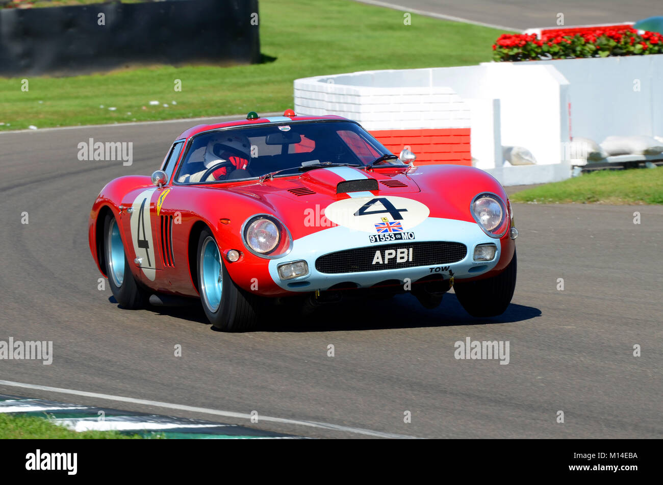 1964 Ferrari 250 GTO owned by Anthony Bamford driven by Christian Horner in the RAC TT Celebration at the Goodwood - Stock Image