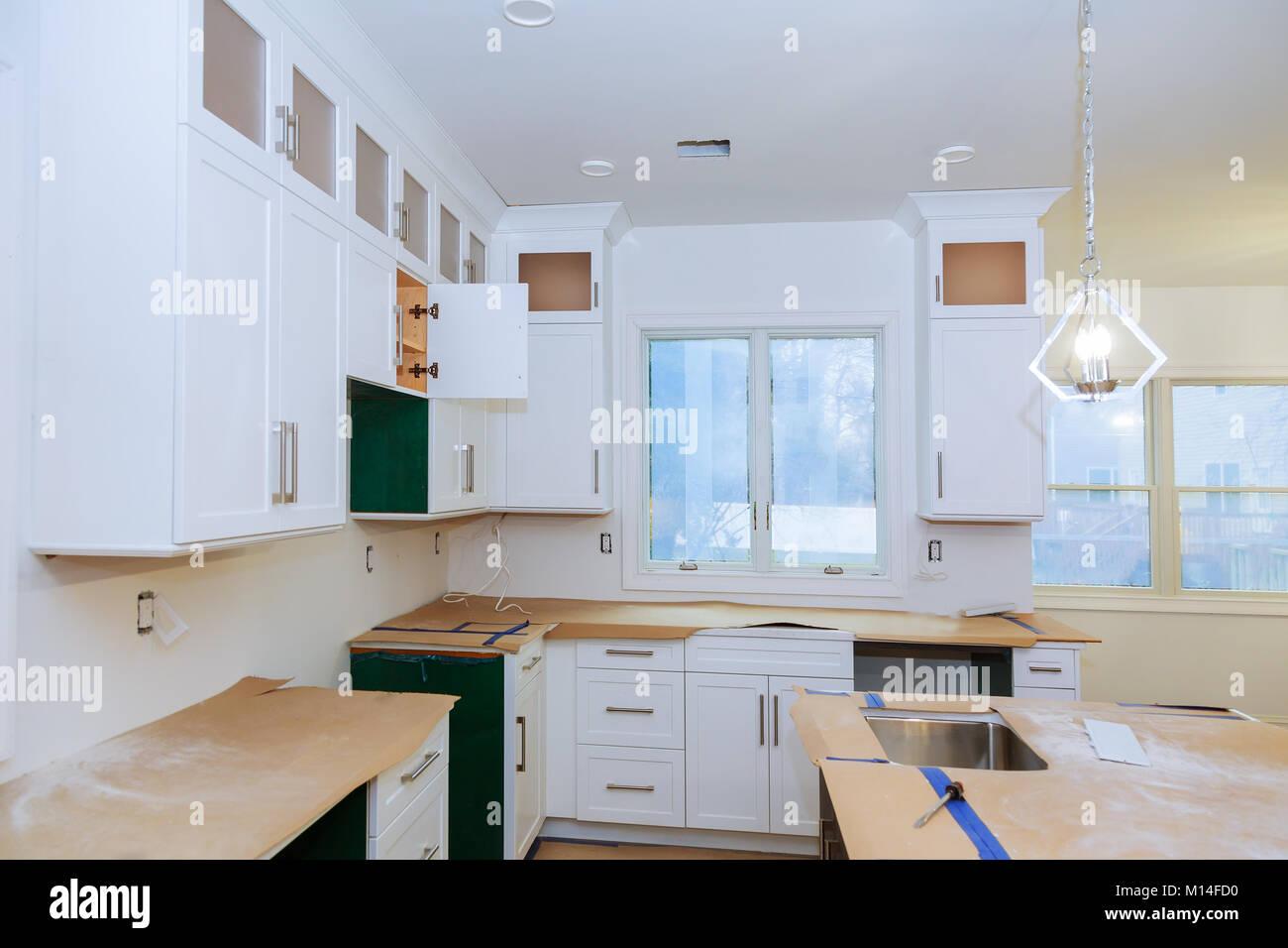 modern kitchen cabinet. Blind corner cabinet, island drawers ...