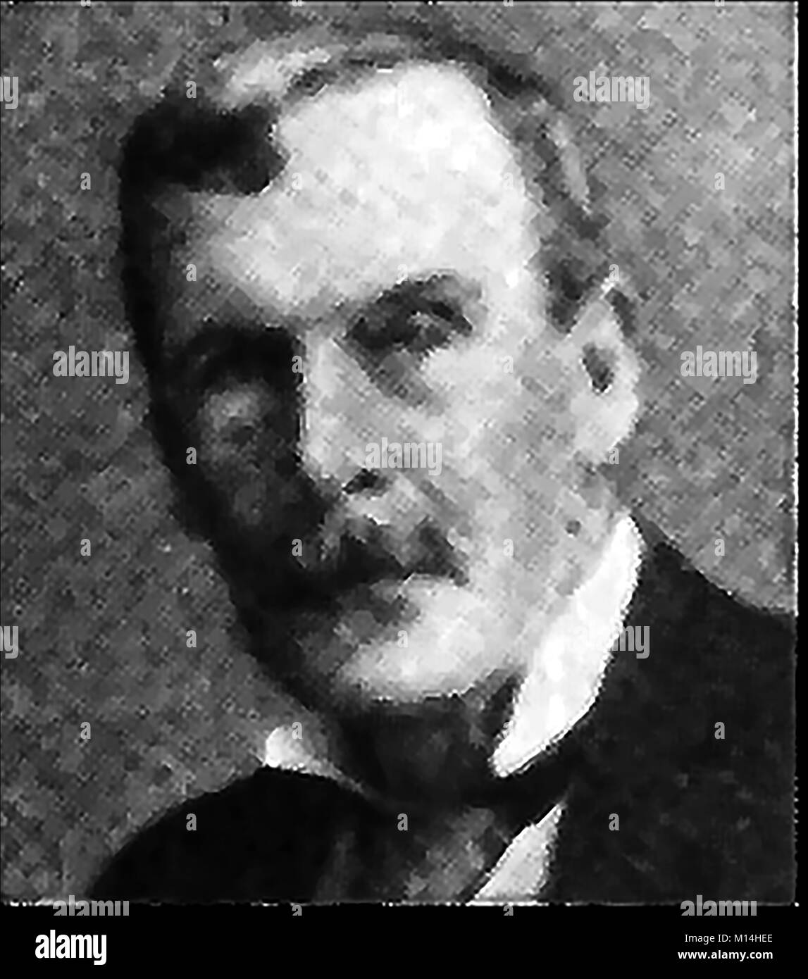 A printed portrait of Frederick Nicholas  Charrington (1850-1936), British reformer and temperance movement supporter - Stock Image
