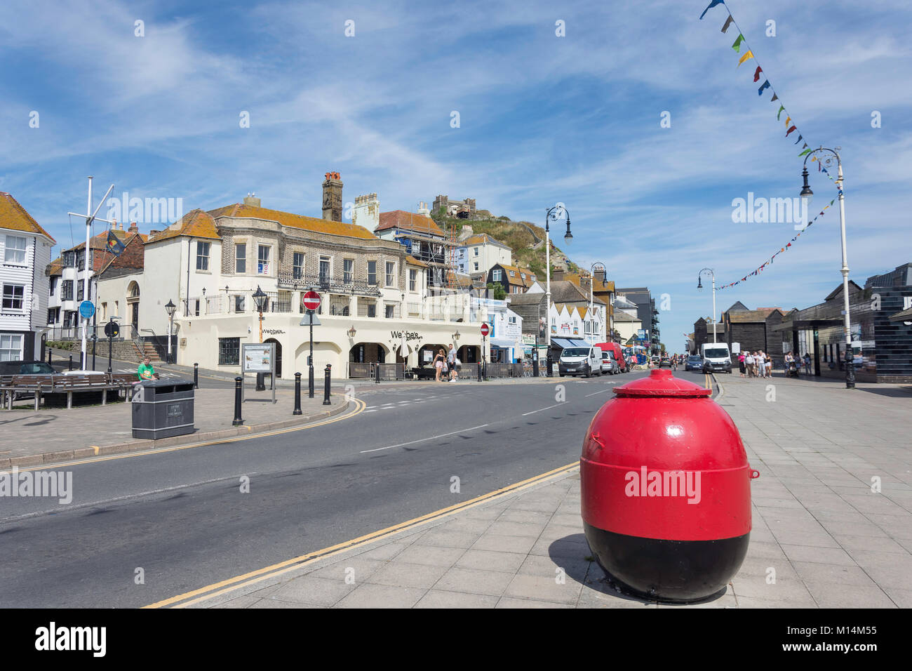 Rock-a-Nore Road, Hastings, East Sussex, England, United Kingdom - Stock Image