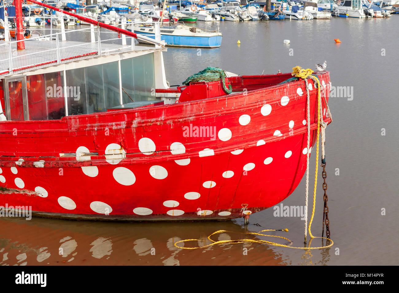Fishing port of Santurtzi,Basque Country,Spain. - Stock Image