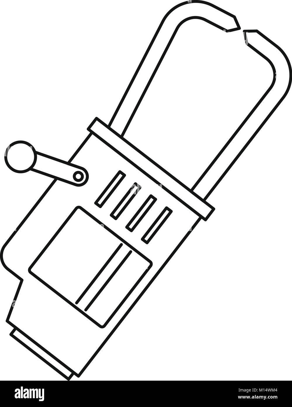Welding equipment icon outline - Stock Image