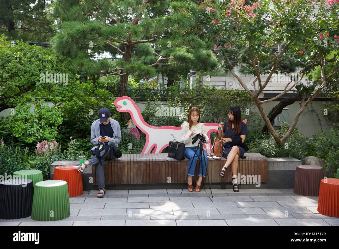 South Korea Seoul Young Man Stock Photos & South Korea Seoul