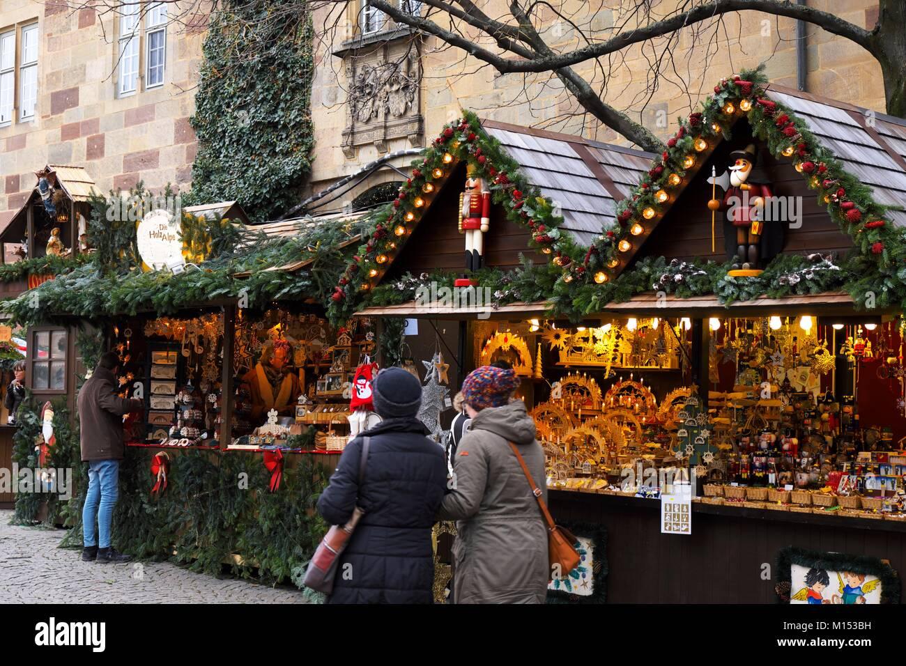Christmas In Stuttgart Germany.Germany Baden Wurtemberg Stuttgart Christmas Market