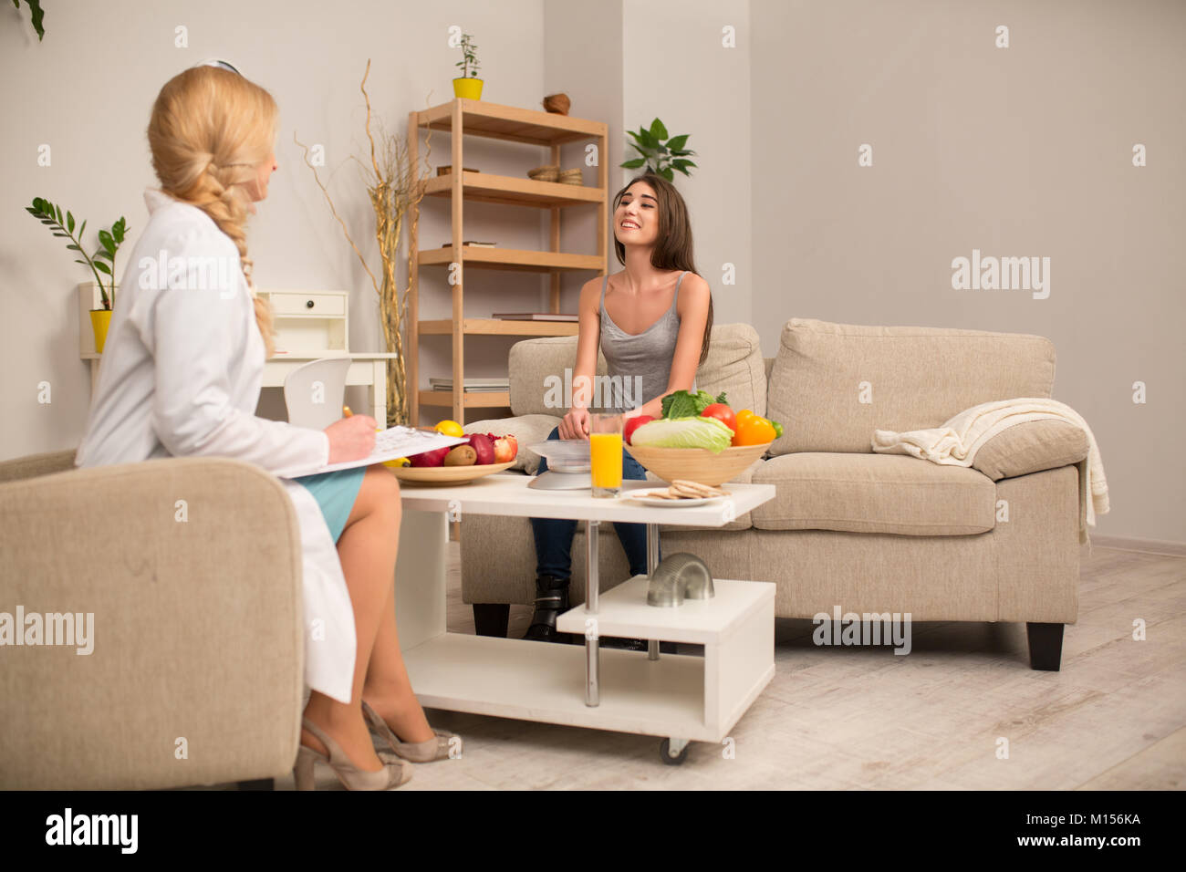 Proffessional dietitian consultation - Stock Image