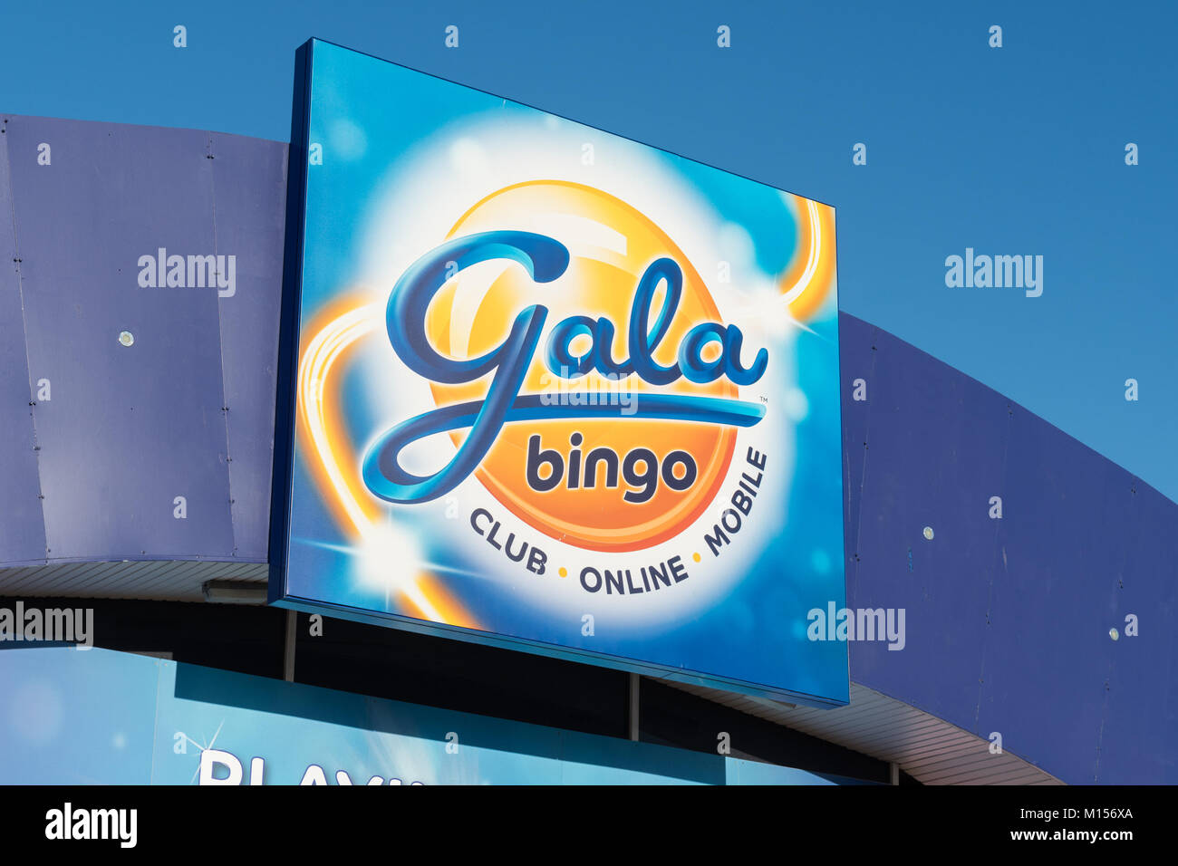 Gala bingo sign, Possilpark, Glasgow, Scotland, UK - Stock Image