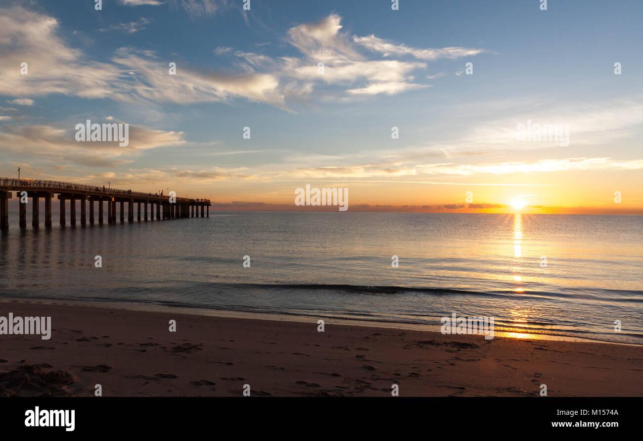 Golden sunrise at Sunny Isles Beach, South Florida, USA. - Stock Image