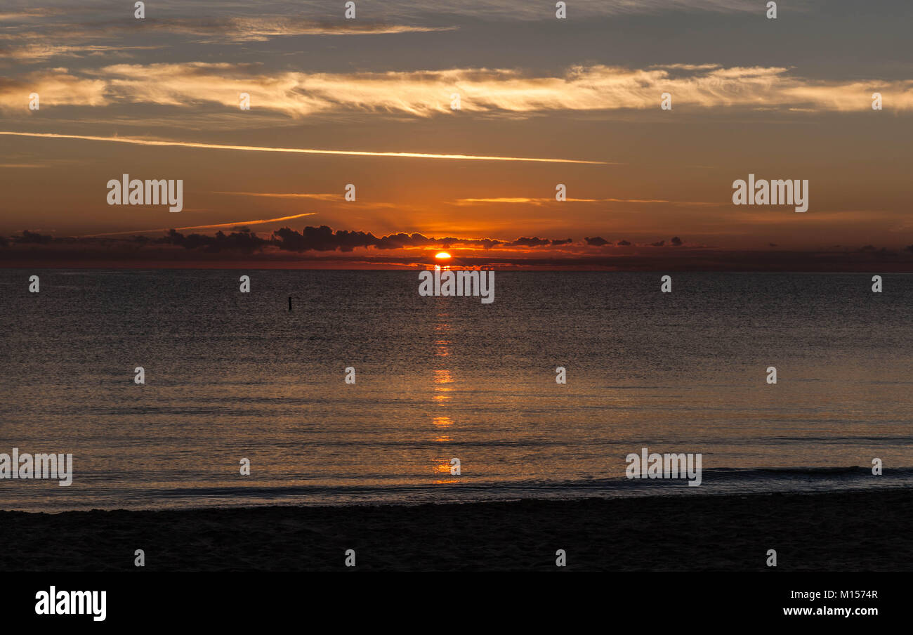 Golden sunrise at Sunny Isles Beach, South Florida, USA. - Stock Image