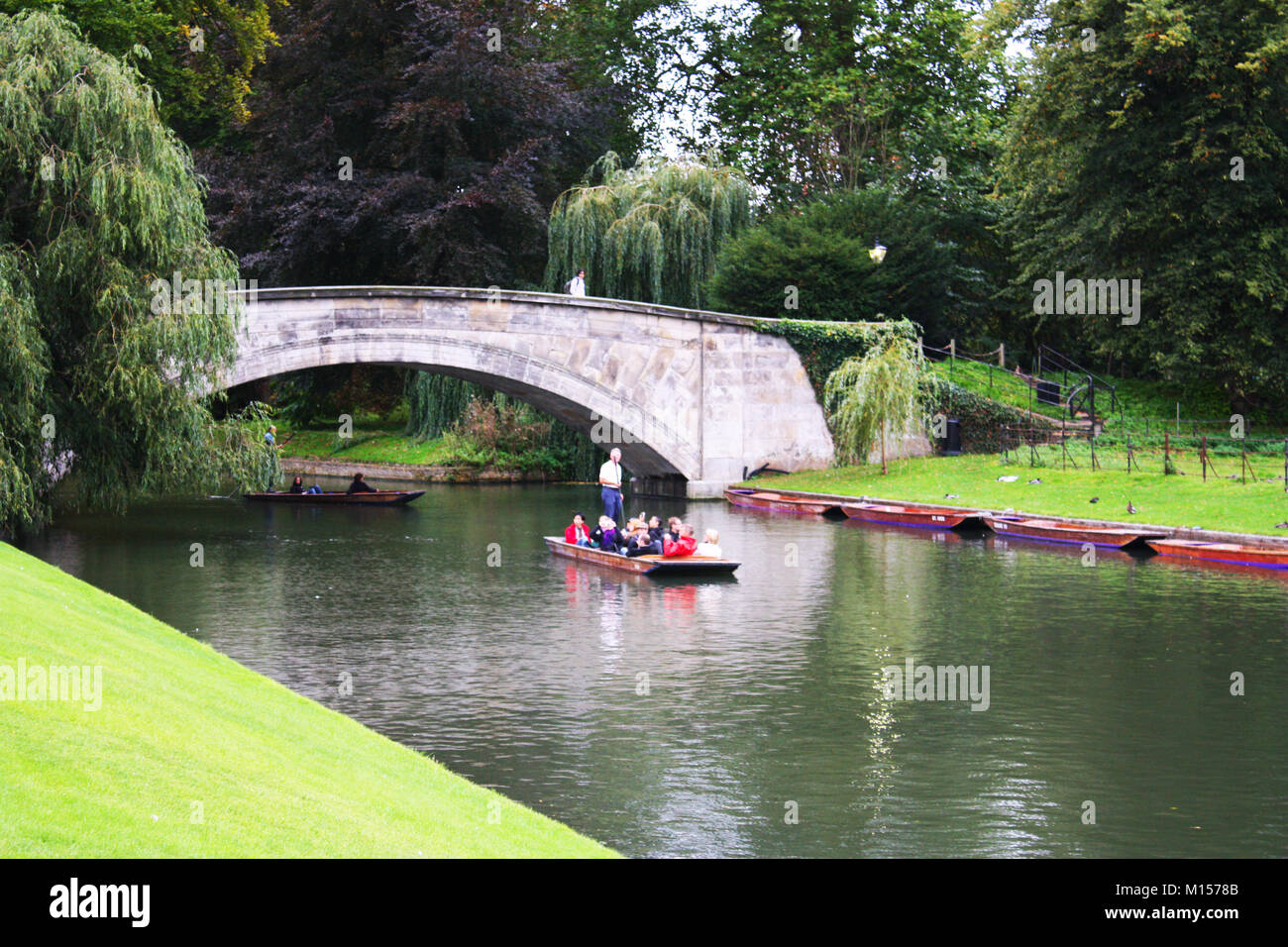Punting in Cambridge, UK Stock Photo