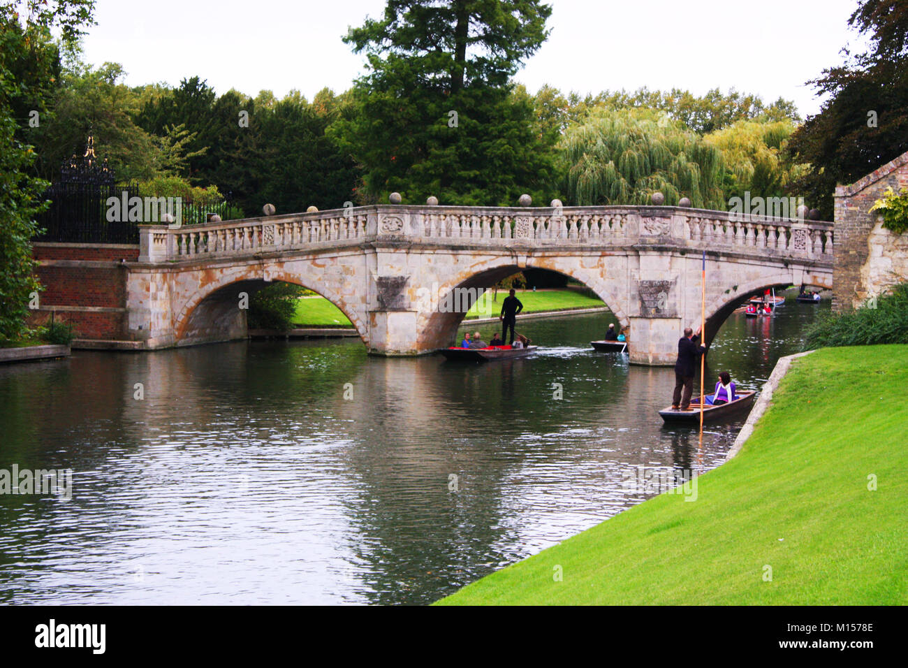 Punting in Cambridge, UK Stock Photo