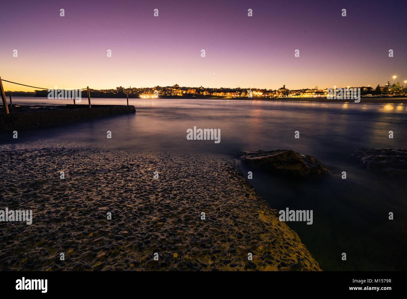 Bondi beach sunset - Stock Image
