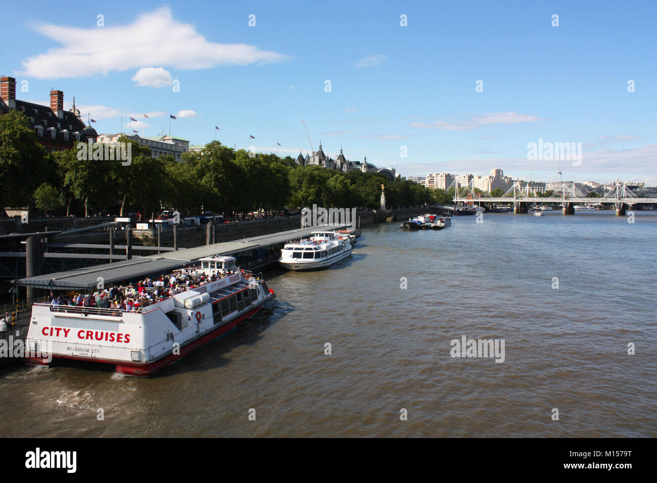 Thames river cruise, London, UK Stock Photo