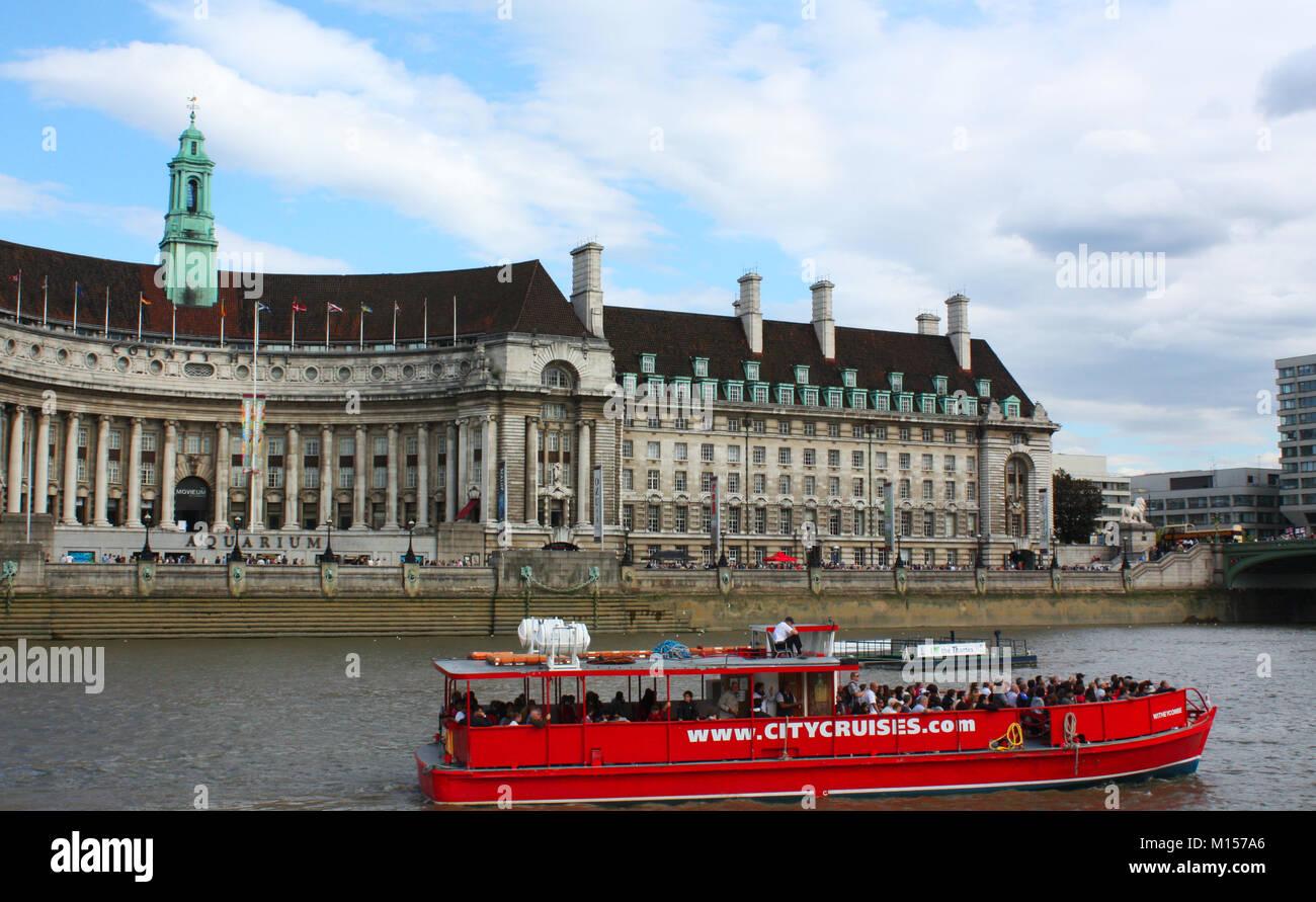 Thames river cruise, London, UK Stock Photo