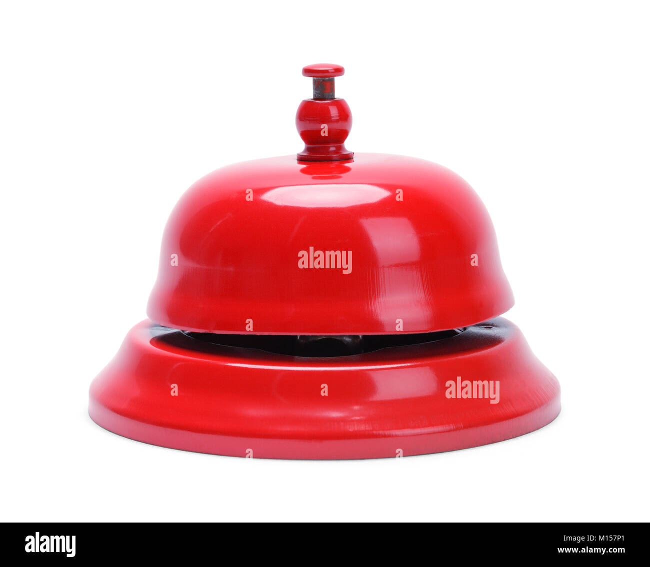 Metal Service Bell Isolated on White Background. - Stock Image