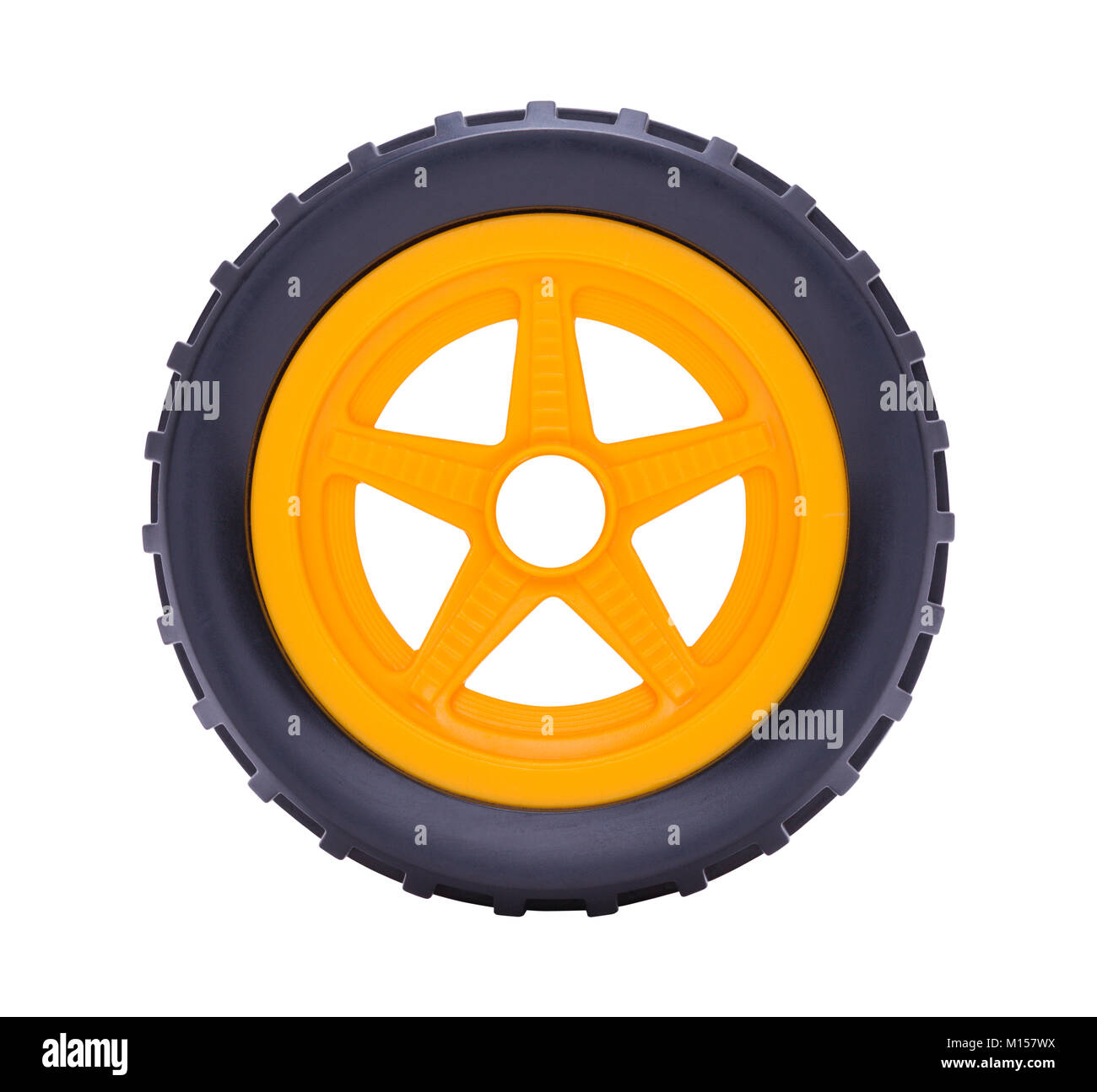 Toy Car Tire Isolated on a White Background. - Stock Image