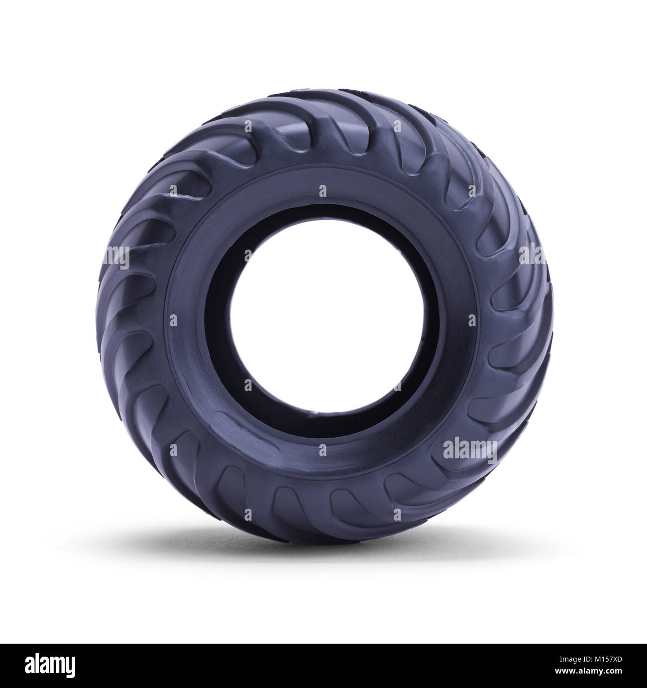 Toy Truck Tire Isolated on a White Background. - Stock Image