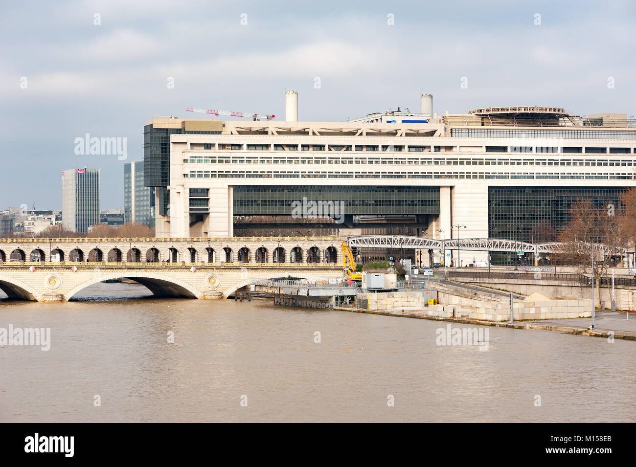 Bercy French  ministry of finance in Paris - Stock Image