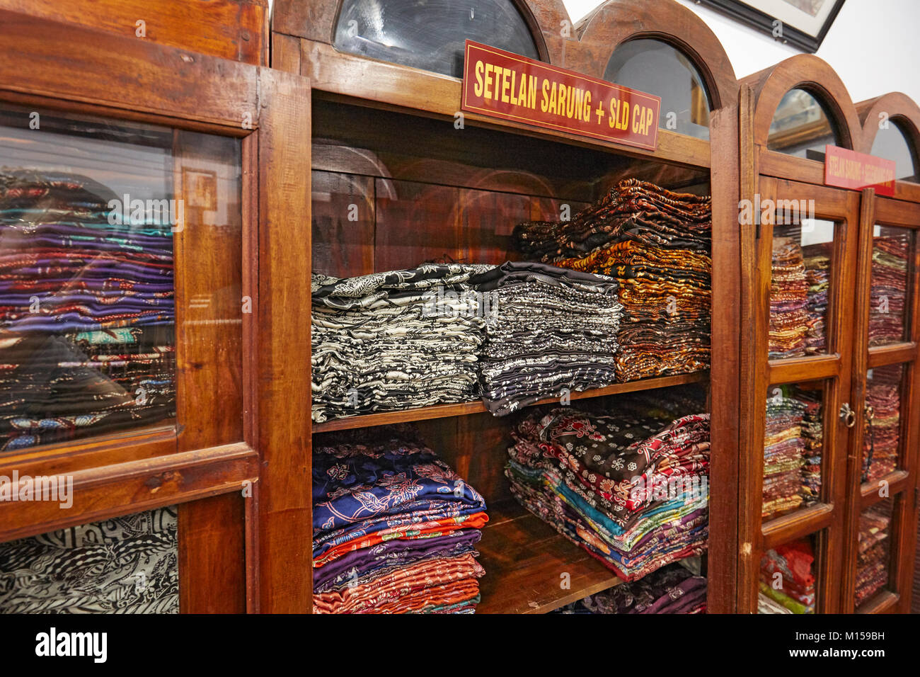 Sarung Stock Photos Images Alamy Cap Gajah Stacks Of Folded Silk Batik Sarongs For Sale In Hamzah Shop Yogyakarta Java