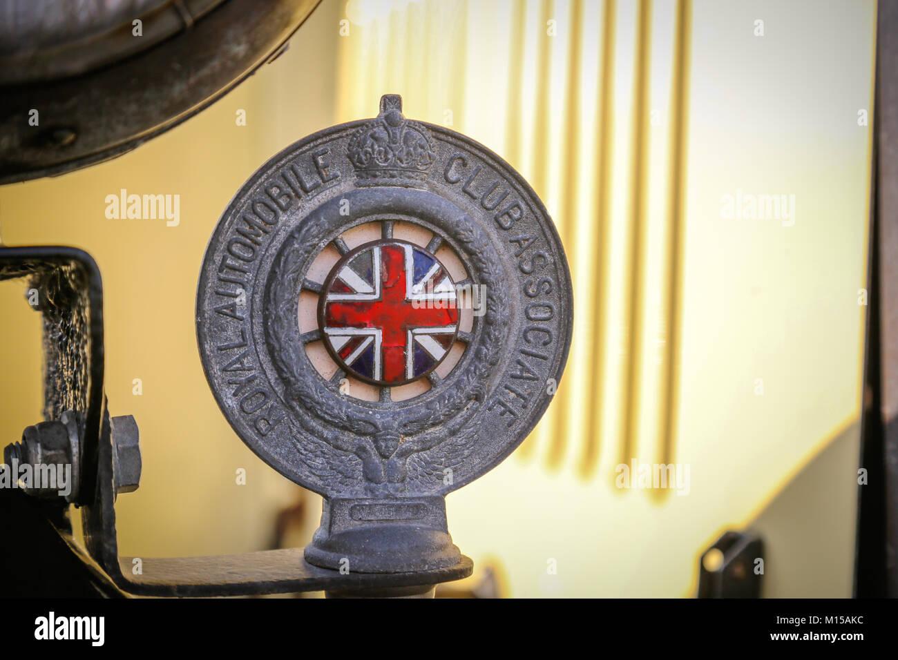 A vintage Royal Automobile Club badge Stock Photo