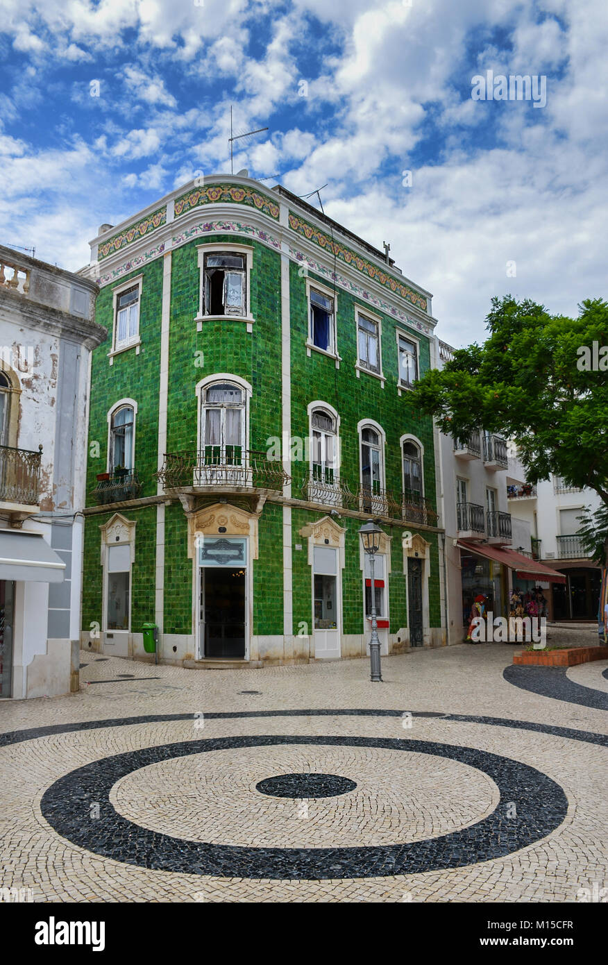 City of Lagos,in Western Algarve Portugal, offers visitors glorious beaches, buzzing nightlife and a charming historic - Stock Image