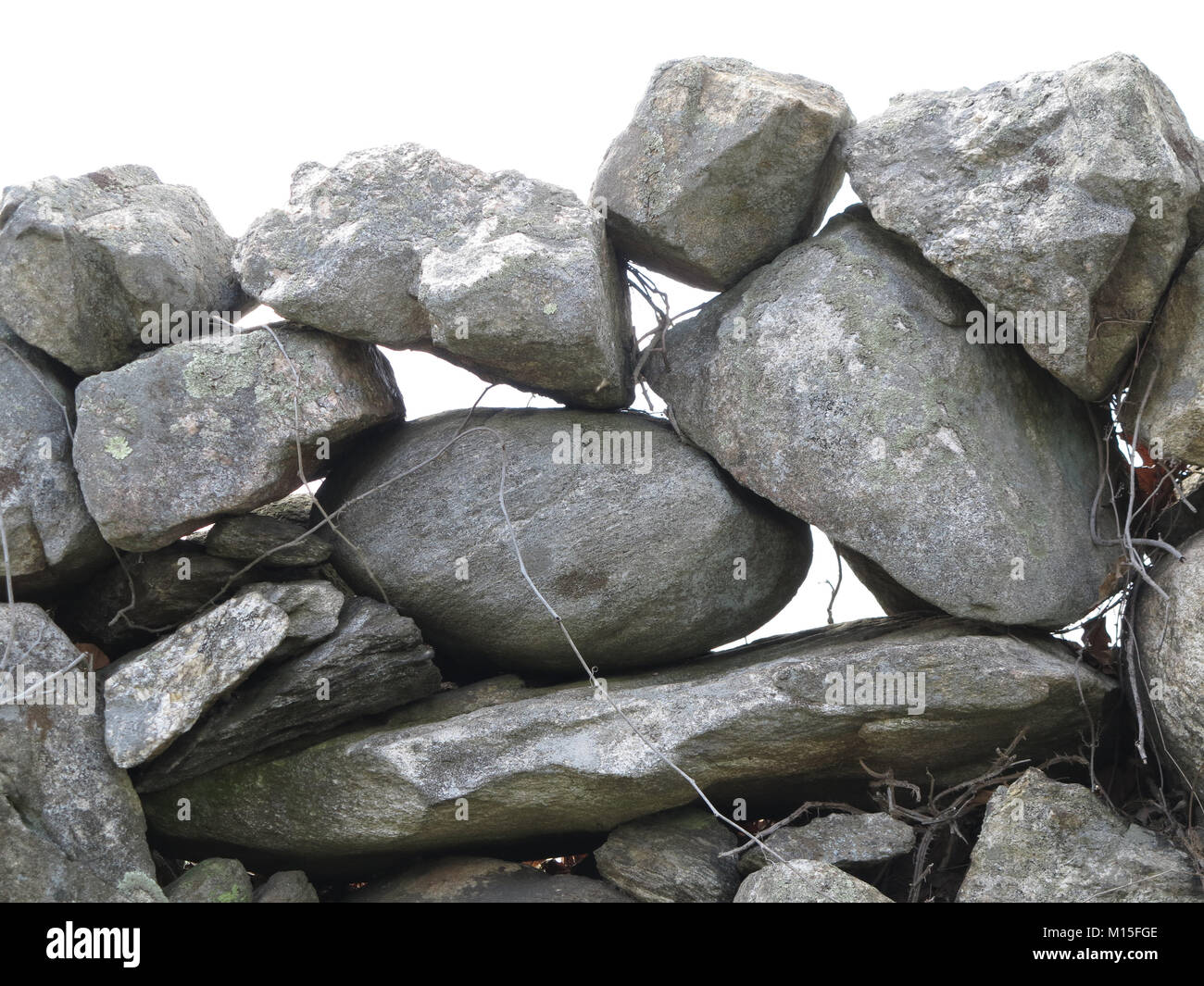 Pile of Gray Rocks Balancing on Each Other - Stock Image