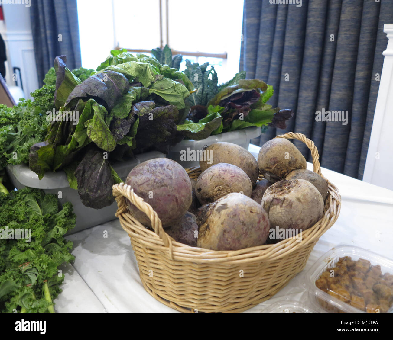 Bunches of Fresh Picked Vegetables Stock Photo