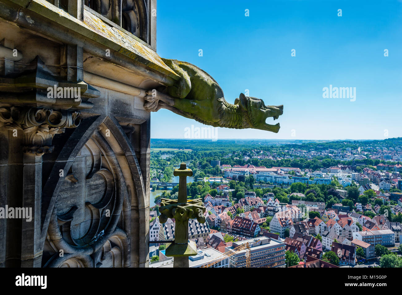 Ulm Minster (German: Ulmer Münster) is a Lutheran church located in Ulm, Germany. Tallest Church, 5th tallest structure build before the 20th century. Stock Photo