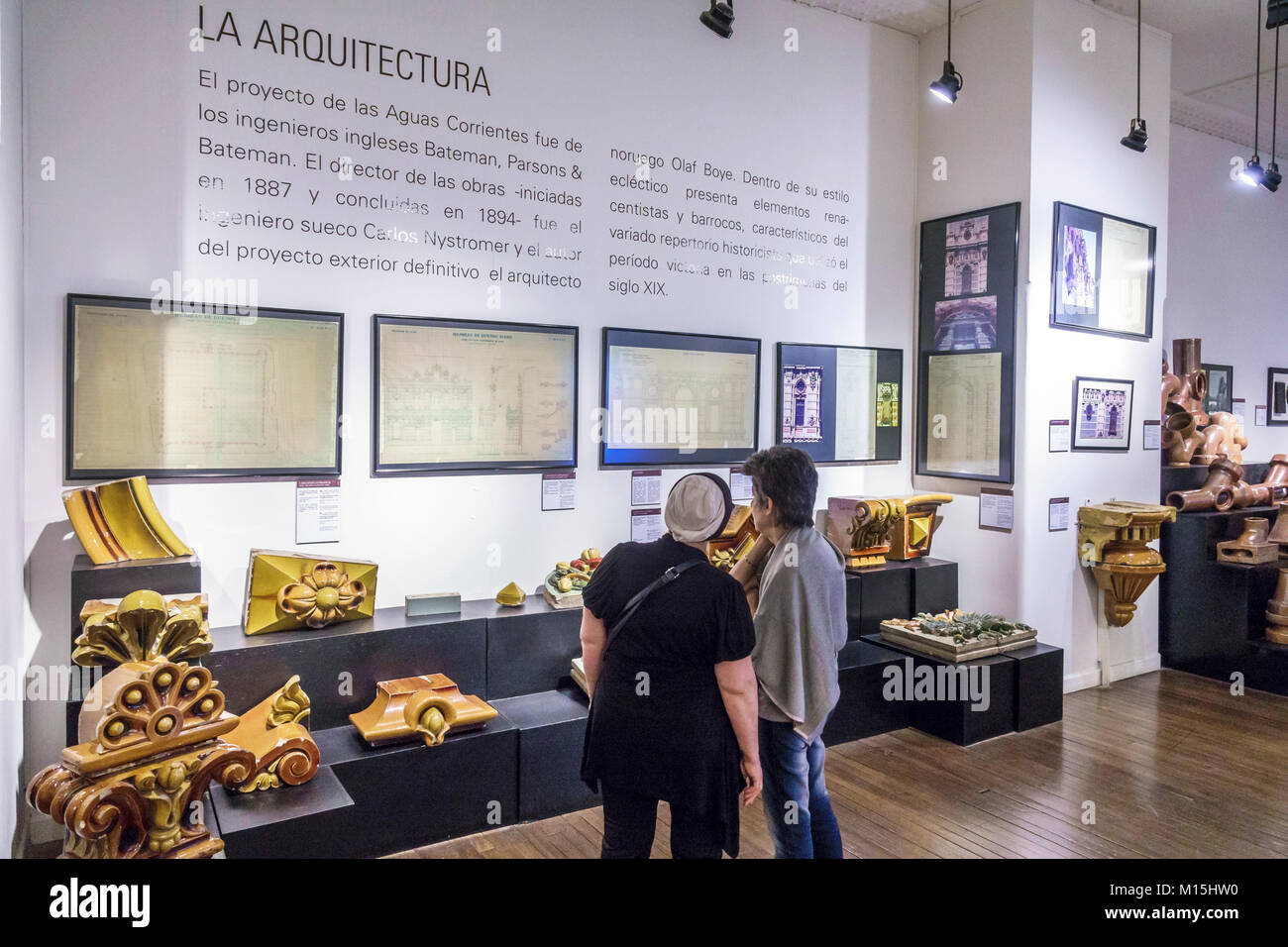 Buenos Aires Argentina el Palacio de las Aguas Corrientes Museo del Agua y de la Historia Sanitaria water pumping Stock Photo
