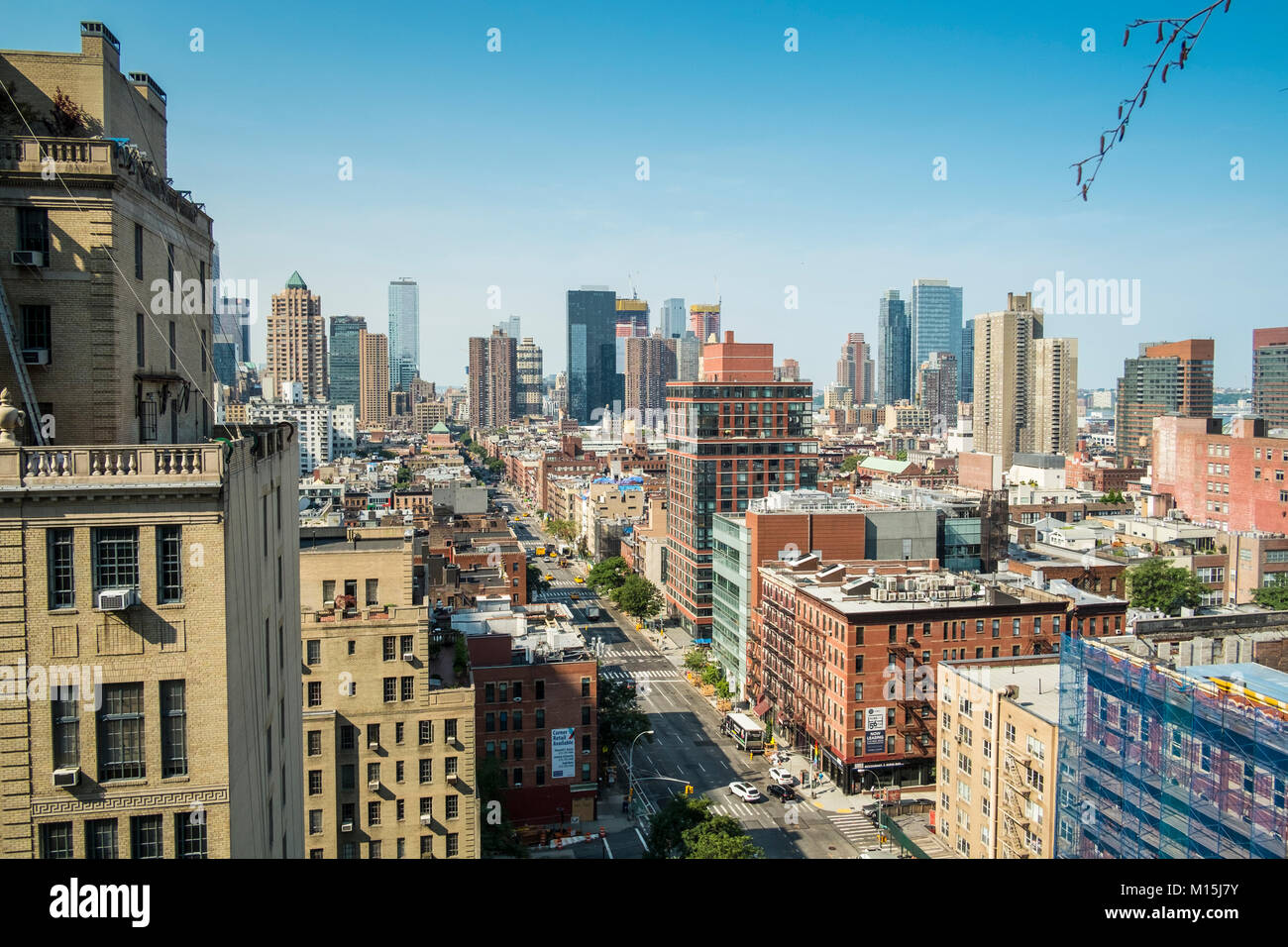 A view from a roof top somewhere on West 5th Street and 9th Avenue. - Stock Image