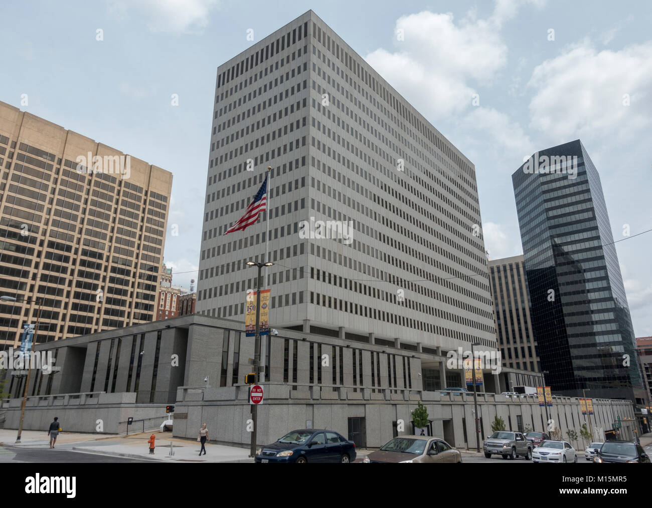 The CBRE Internal Revenue Service Building, 31 Hopkins Pl, Baltimore, Maryland, United States. - Stock Image
