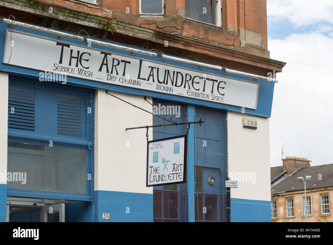 The Art Laundrette and exhibition space, Garnethill, Glasgow, Scotland, UK - Stock Image