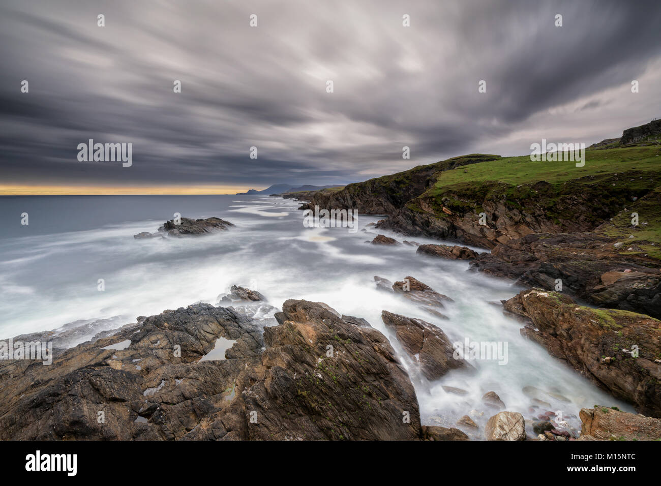 Coastline of Achill Island Ireland - Stock Image