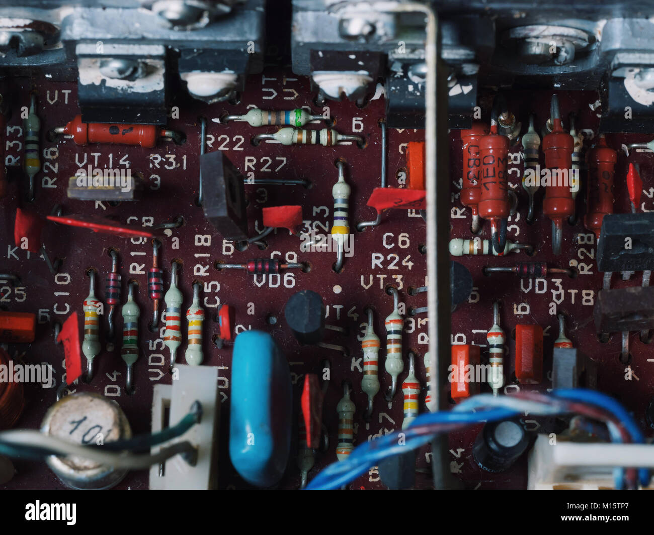 Amplifier Circuit Stock Photos Images Alamy Input Signal Amplifiercircuit The Soft Blurred Of Old Car Stereo Power Electronic Boardtransformers