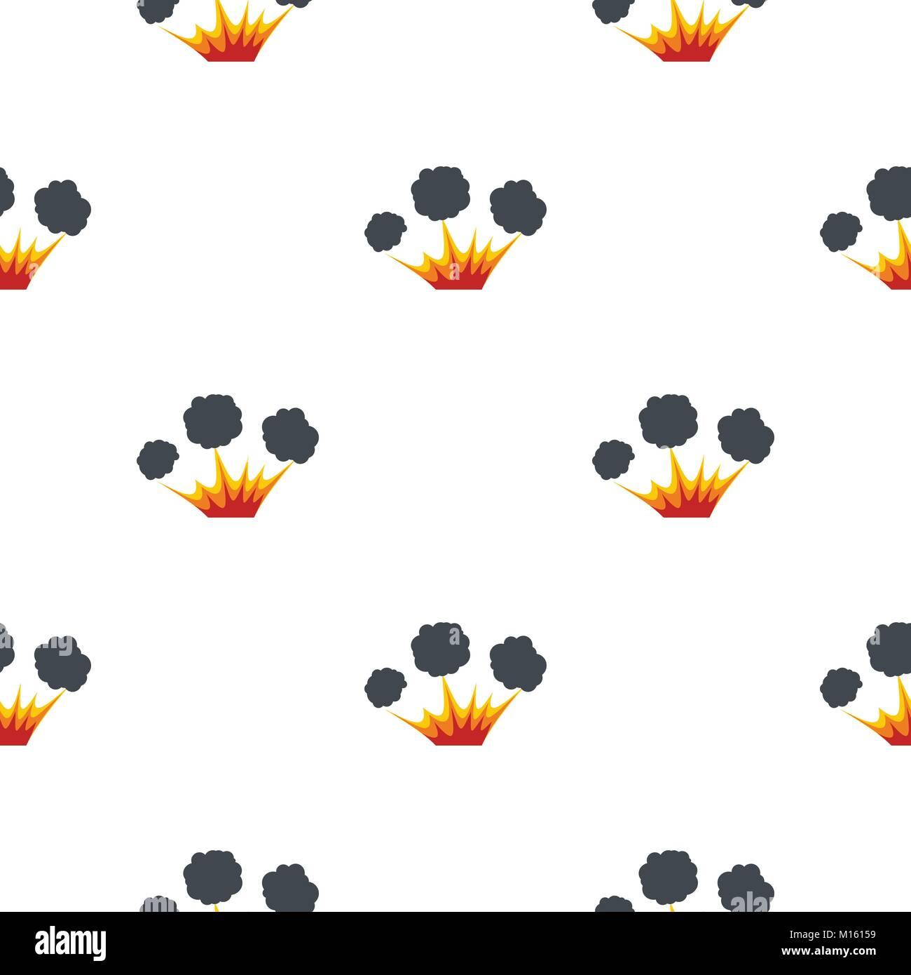 Explosion pattern seamless - Stock Image