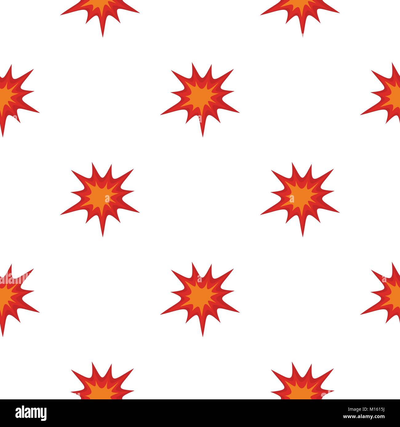 Heavy explosion pattern seamless - Stock Image