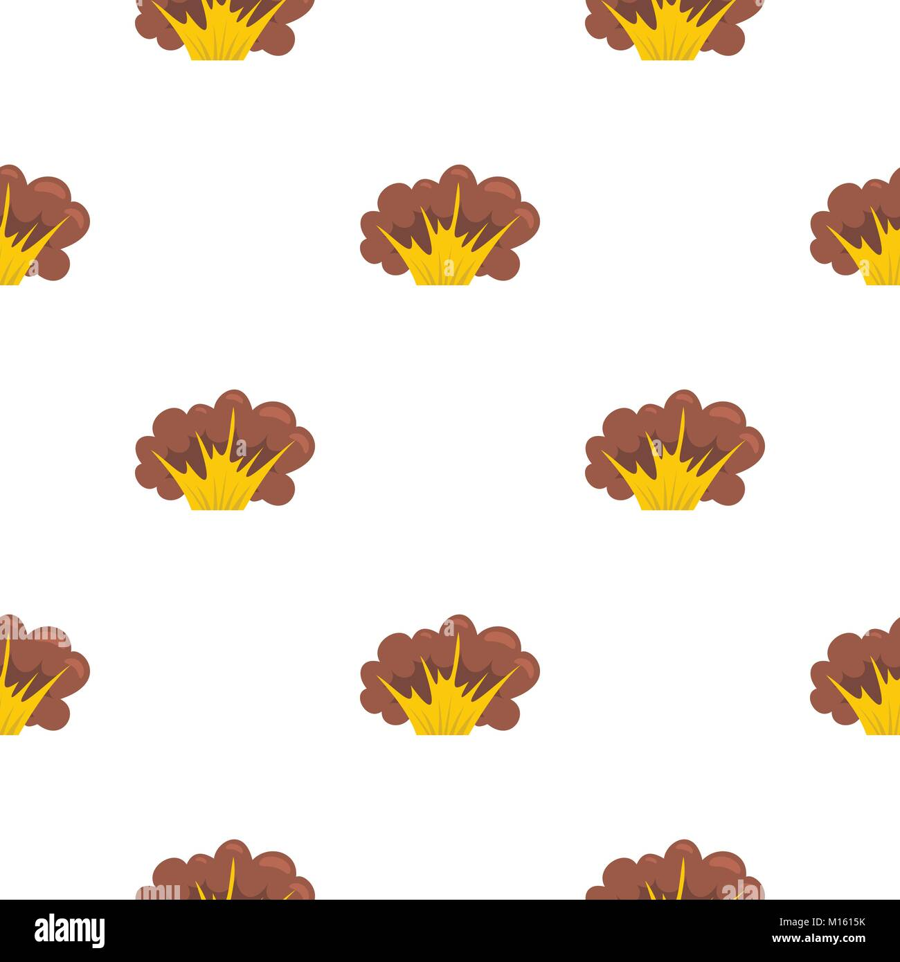 High powered explosion pattern seamless - Stock Image