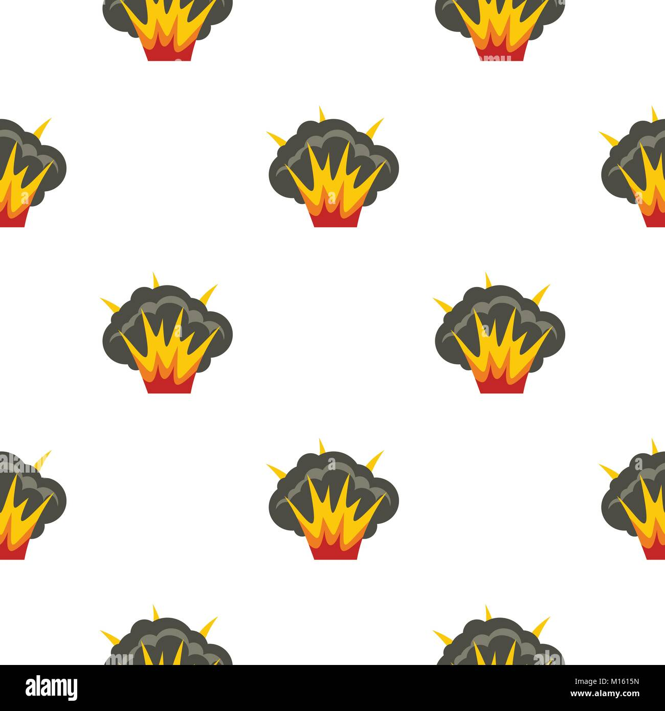 Projectile explosion pattern seamless - Stock Image
