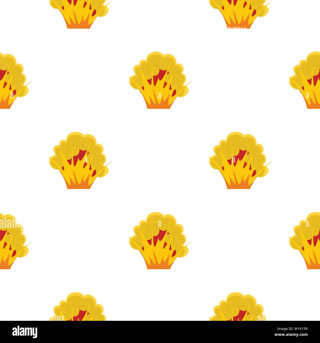 Flame and smoke pattern seamless - Stock Image