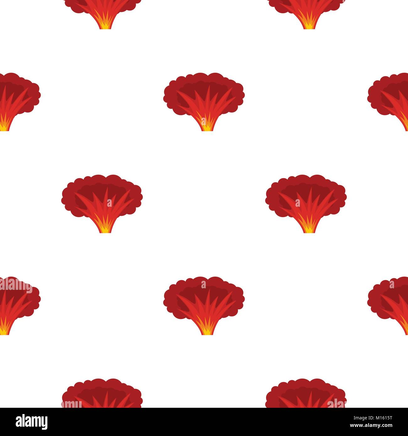 Atomical explosion pattern seamless - Stock Image