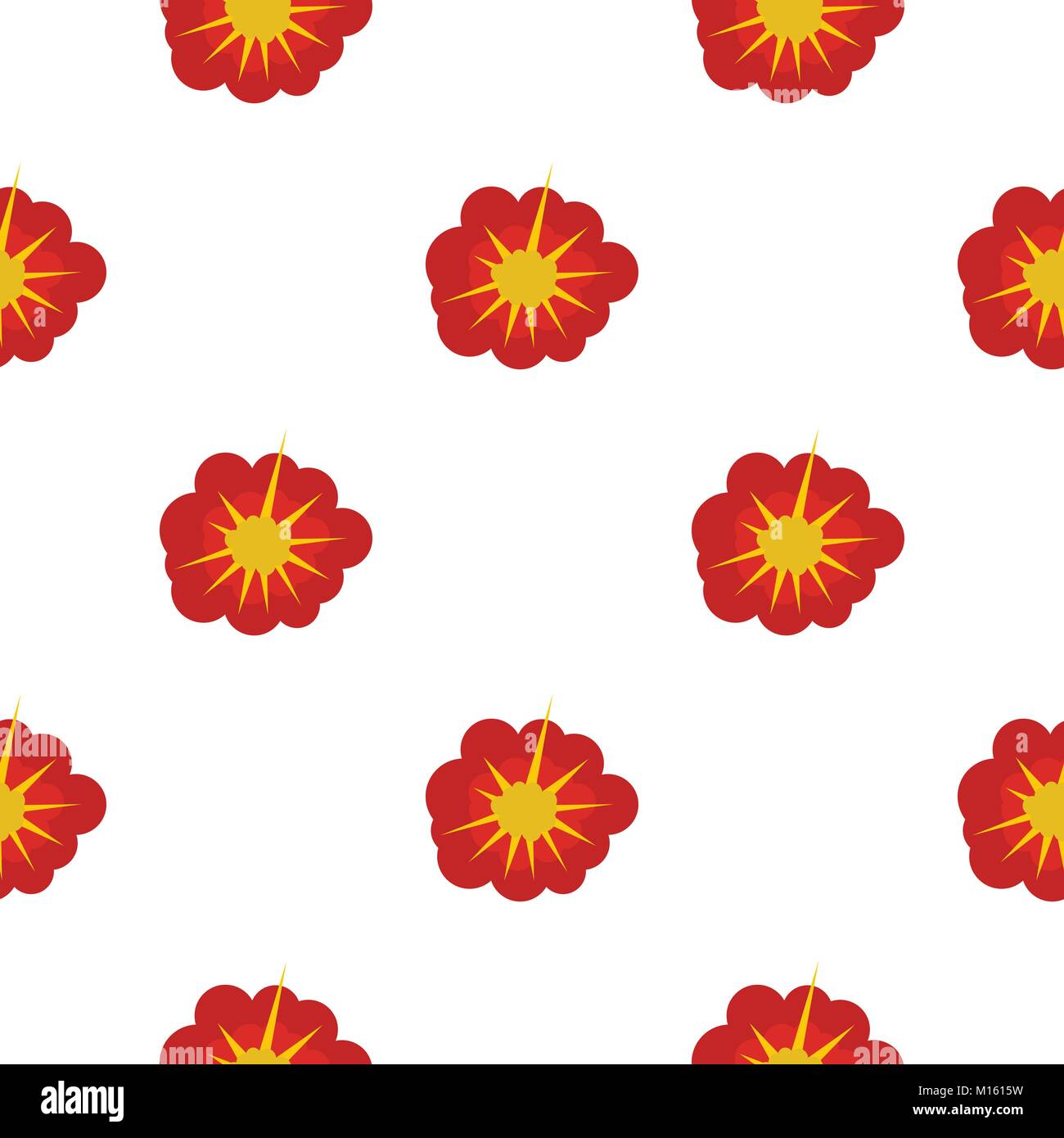 Cloudy explosion pattern seamless - Stock Image